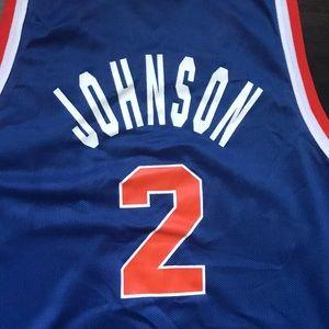 29f73d403c4 Champion Shirts - Vintage Knicks Larry Johnson jersey